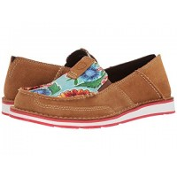 Women Ariat Cruiser Soft synthetic lining for added comfort Sunburn Brown/Turquoise Oil Cloth Print 8677450 WDCTURG