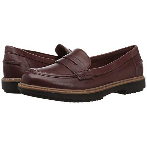 Women Clarks Raisie Eletta Soft synthetic lining for added comfort Mahogany Leather 8893907 ZSHRTFS