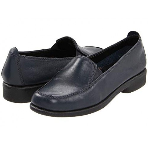 Women Hush Puppies Heaven Soft synthetic lining for added comfort Navy Leather 7190765 JTCXFDY