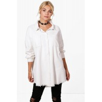 Raw Edge Oversized Cord Shirt Comfortable elegant and beautiful Please select DZZ44031