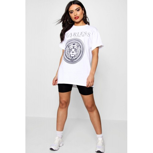 Fearless New Slogan Tee Comfortable elegant and beautiful white DZZ21744