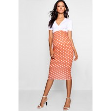 Maternity Over The Bump Spot Midi Skirt Comfortable elegant and beautiful Please select BZZ48023
